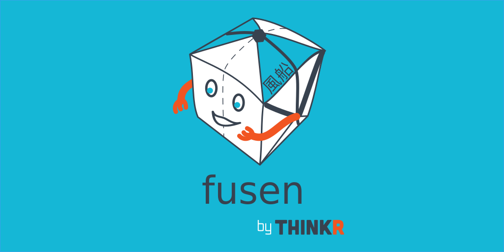 banner with sticker logo of fusen package